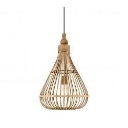 Amsfield ξύλινο φωτιστικό σε φυσική απόχρωση Eglo  49772
