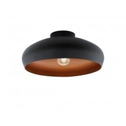 Mogano οροφής μονόφωτο Καμπάνα μαύρο/χαλκός 94547
