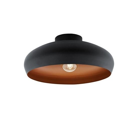 Mogano οροφής μονόφωτο Καμπάνα μαύρο/χαλκός