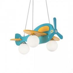 IDEALUX Παιδικό φωτιστικό αεροπλανάκι μπλέ AVION 1 SP3 136325