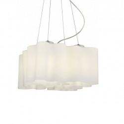 ACA Κρεμαστό φωτιστικό 4xE27 λευκό γυαλί W14794B
