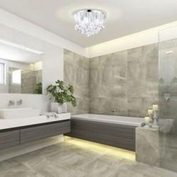 EGLO Φωτιστικό οροφής με κρύσταλλα στεγανό ALMONTE 94878