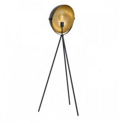 EGLO Φωτιστικό δαπέδου με Ύψος 142cm Μαύρο/χρυσό DARNIUS 98458