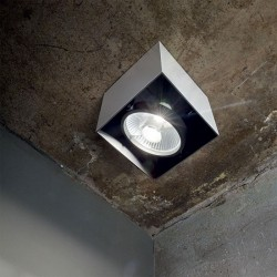 IDEAL LUX Φωτιστικό οροφής 1xGU10 Λευκό/μαύρο MOOD 140902