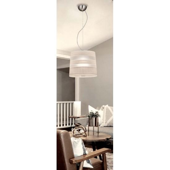 Κρεμαστό Φωτιστικό Μοντέρνο Μονόφωτο Καμπάνα Λευκό 3098800