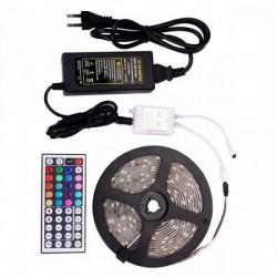 Αδιάβροχη Ταινία LED Σετ με Τηλεχειριστήριο SMD5050 12V RGB 5m