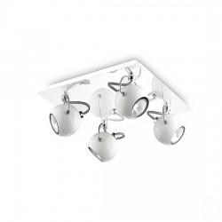 Lunare τετράφωτο οροφής σπότ λευκό/ χρώμιο