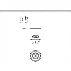 Pendo SQ 2 σπότ οροφής GU10 από εξωθημένο αλουμίνιο