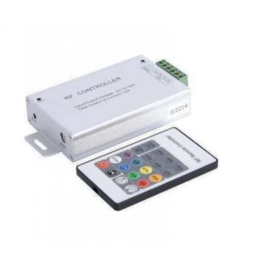 Controller RGB RF 3X4A 12-24V με χειριστήριο