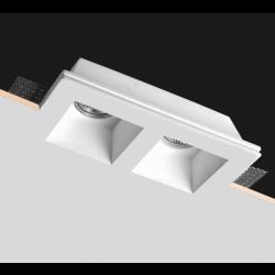 Κεραμικό ορθογώνιο χωνευτό διπλό σποτ Par16