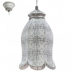 Eglo Κρεμαστό μεταλλικό φωτιστικό γκρί πατίνα Talbot 49207