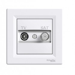Asfora πρίζα TV-SAT διέλευσης 4dB Λευκή