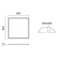 LED131-40W χωνευτό φωτιστικό LED panel τετράγωνο 60x60 SMD